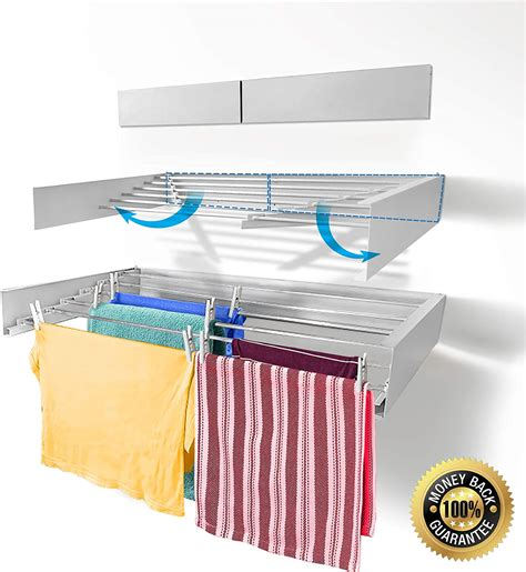 Folding Laundry Drying Rack Wall Mounted Plans
