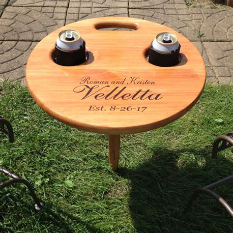 Folding Outdoor Table Diy Drink