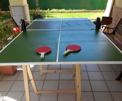 Folding Ping Pong Table DIY