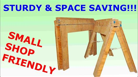 Folding Sawhorse Plans Youtube Music Videos