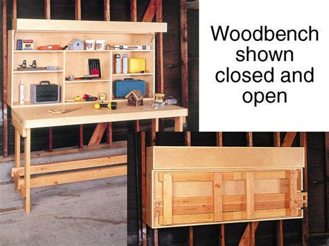 Folding Space Saver Workbench Woodworking