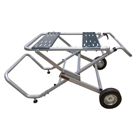 Folding Table Saw Stand With Wheels