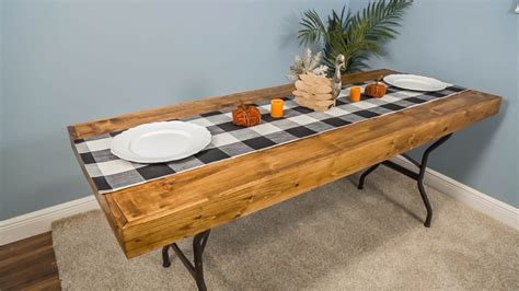 Folding Table Wood Top Diy Home