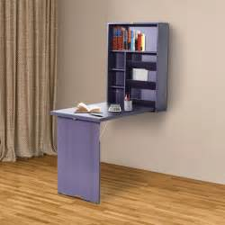 Folding Wall Mounted Desk Table With Storage