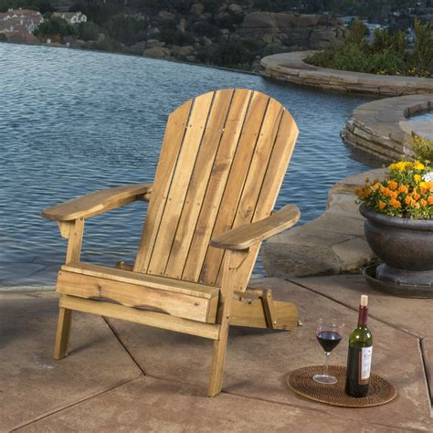 Folding Wood Adirondack Chairs