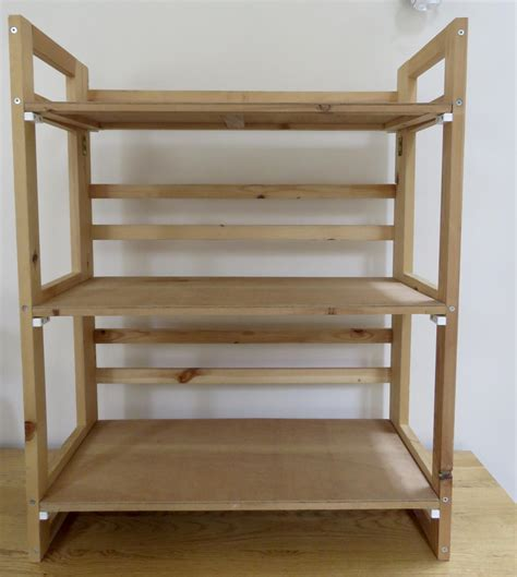 Folding Wood Shelf Units