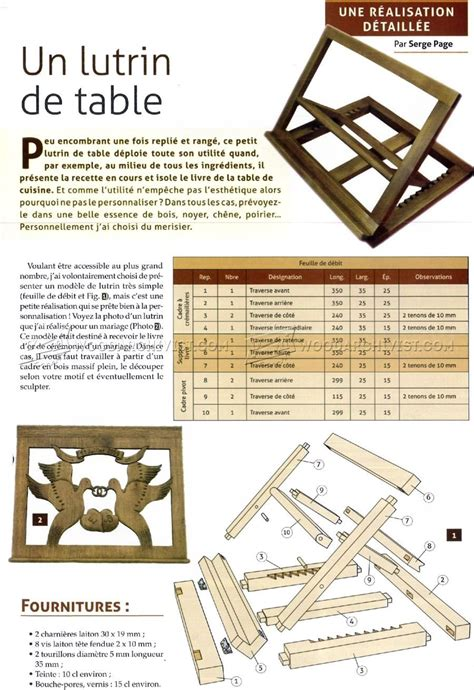 Folding Wooden Bible Book Stand Plans