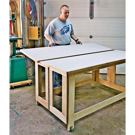 Folding Woodworking Assembly Table