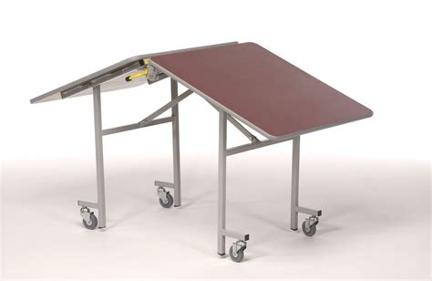 Folding table with wheels Image
