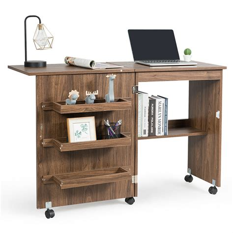 Folding-Craft-Table-With-Storage