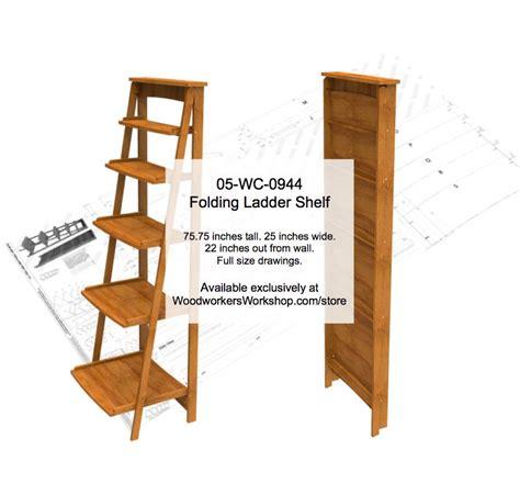 Folding-Ladder-Shelf-Plans
