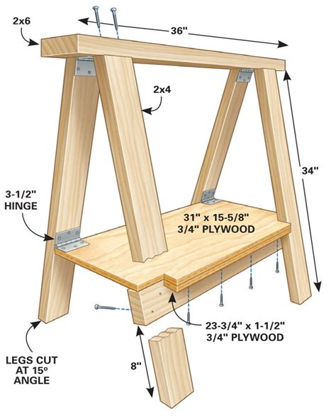 Folding-Log-Sawhorse-Plans