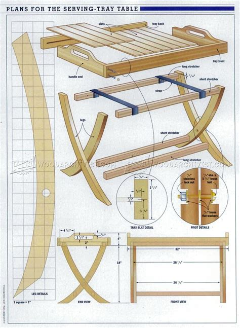 Folding-Serving-Tray-Plans