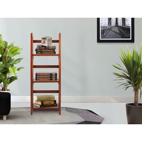 Folding-Stackable-3-Shelf-Wood-Bookcase