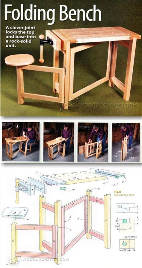Folding-Wood-Carving-Bench-Plans