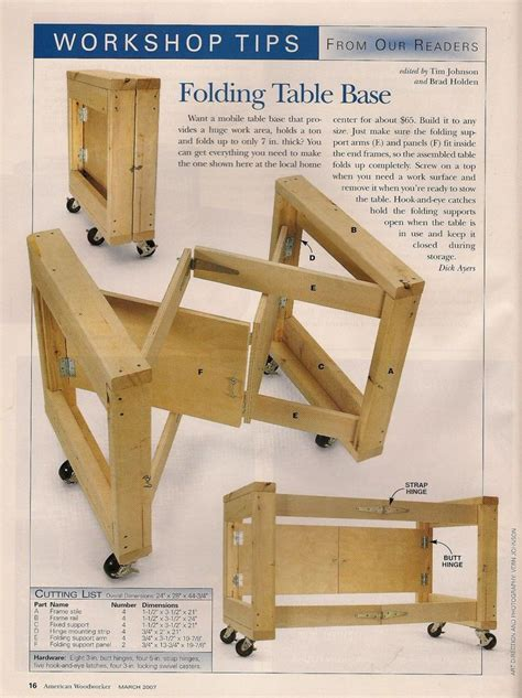 Folding-Work-Table-Plans-Free