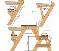 Best Folding table bench plans