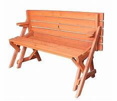 Best Folding wooden bench seat