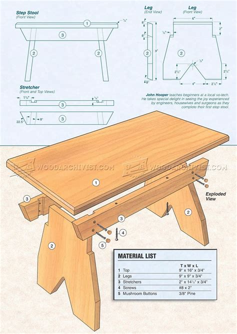Foot-Stool-Woodworking-Plans