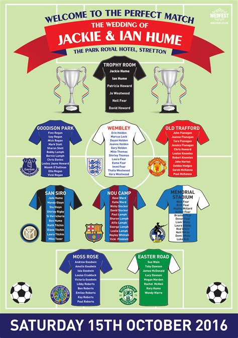 Football-Themed-Wedding-Table-Plan