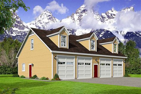 Four Car Detached Garage Plans