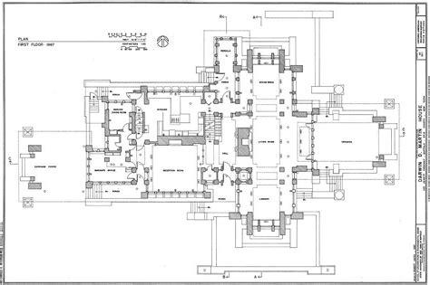 Frank-Lloyd-Wright-Martin-House-Plans