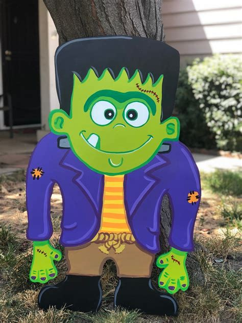 Frankenstein Wooden Yard Art Cutout