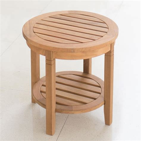 Fredson Outdoor Patio Teak Wood Side Table