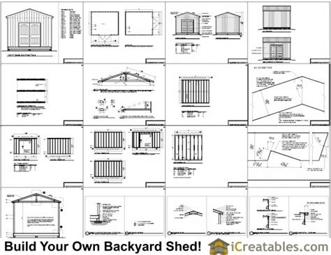 Free 12x14 Storage Shed Plans