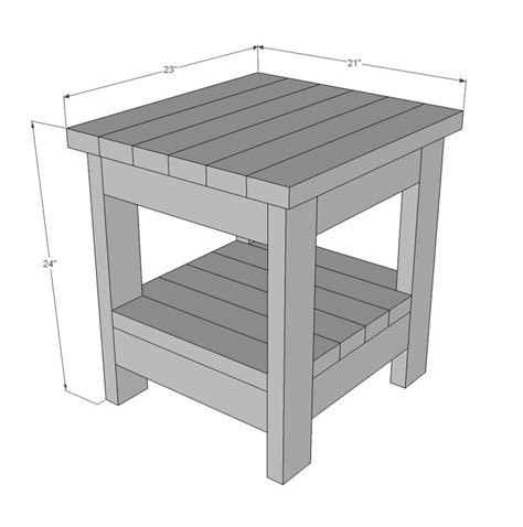 Free 2x4 End Table Plans