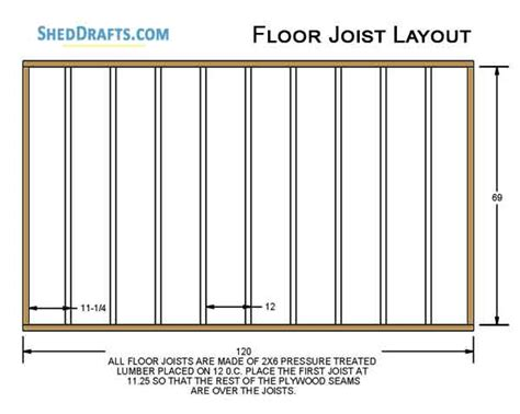 Free 6x10 Shed Floor Plans