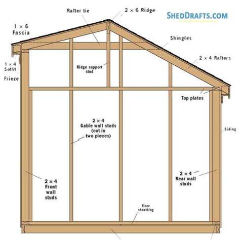 Free 8 X 12 Saltbox Shed Plans