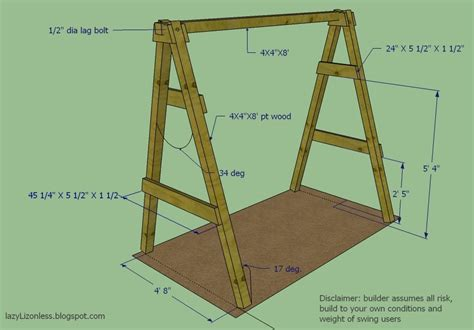 Free A Frame Swing Set Plans