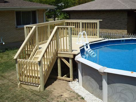 Free Above Ground Pool Deck Building Plans