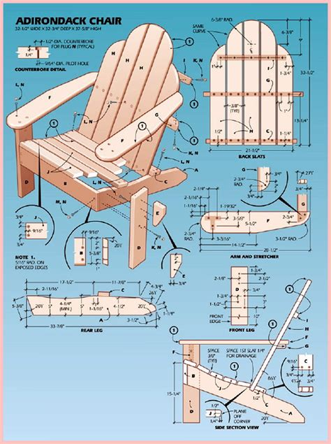 Free Adirondack Chair Plans Printable