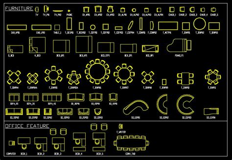 Free Autocad Furniture Drawings