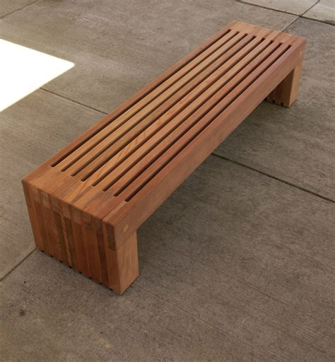 Free Backless Garden Bench Plans