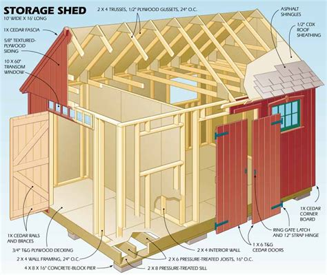 Free Barn Plans 10x16 Storage Shed