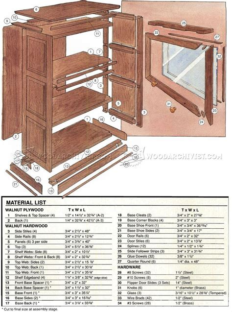 Free Barrister Bookcase Plans