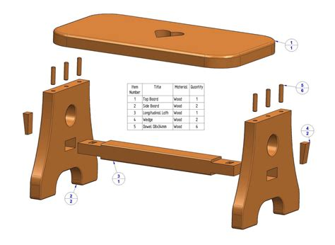 Free Bed Stool Wood Plans
