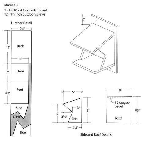 Free Birdhouse Plans For Swallows