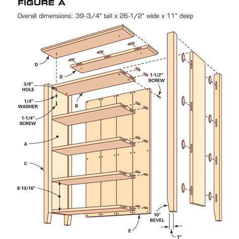 Free Bookcase Plans Cabinet