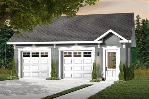 Free Building Plans For Two Car Garage