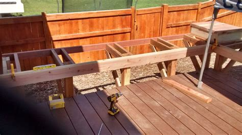 Free Built In Deck Seating Plans