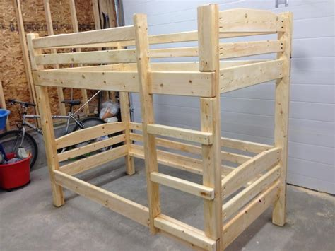 Free Bunk Bed Plans Using 2x4 Studs In Garage