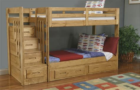 Free Bunk Beds With Stairs Plans