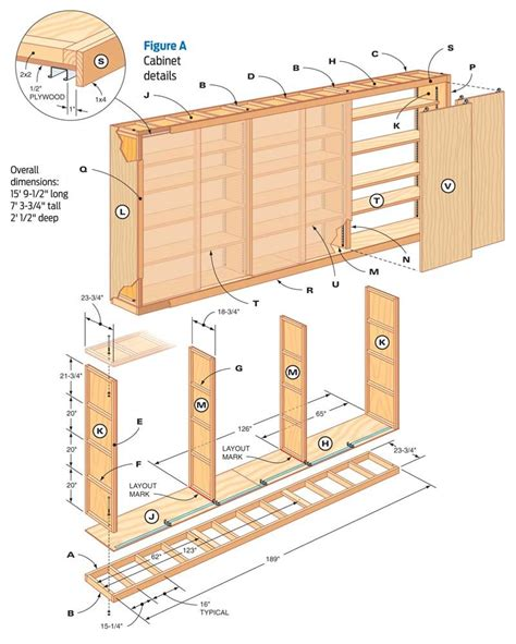 Free Cabinet Making Plans Garage Shelves