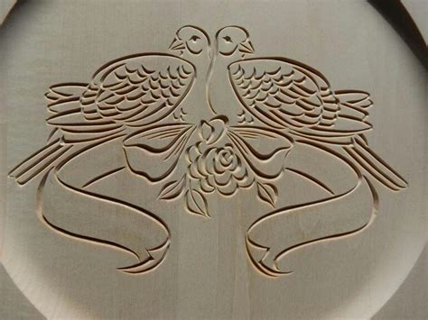 Free Chip Carving Patterns Wedding Doves Clipart