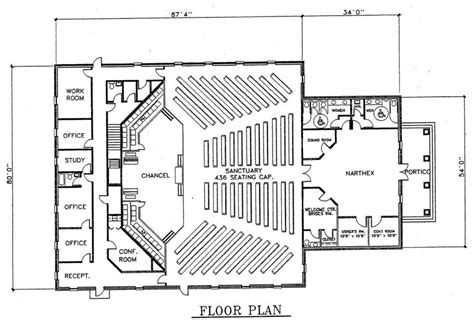 Free Church Building Floor Plans