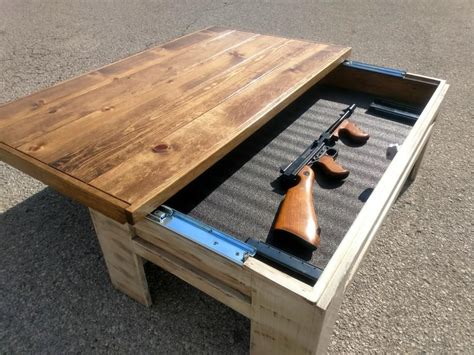 Free Coffee Table Gun Cabinet Plans